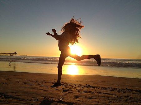 Girl, Jump, Happy, Active, Activity, Sports, Fitness