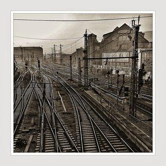 Railway Tracks, Gleise, Rails, Track, Train, Travel