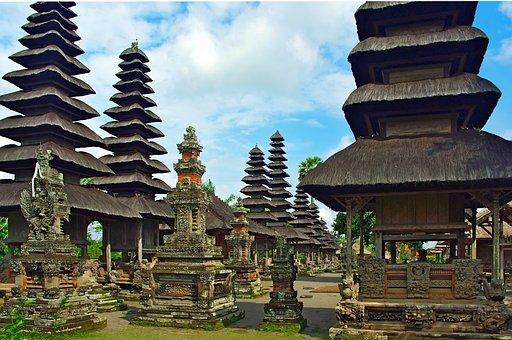 Indonesia, Bali, Pagoda, Mengwi, Taman Temple Ayun