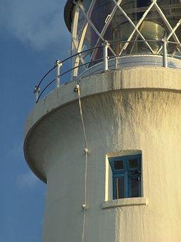 Lighthouse, Window, Jamaica, Sun, Sunset