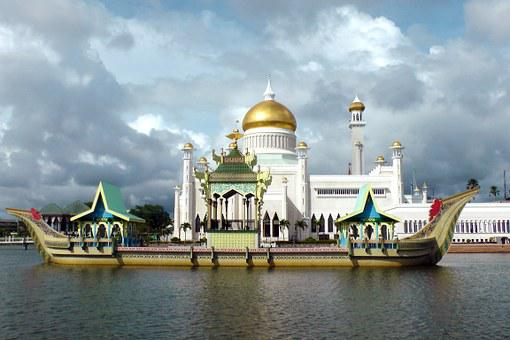 Ship, Junk, Mosque, Saifuddin, Brunei