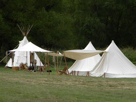 Primitive Camp, Tipi, Teepee, Camping, Outdoors