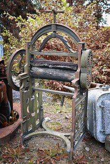 Vintage, Washing, Mangle, Equipment, Laundry, Old