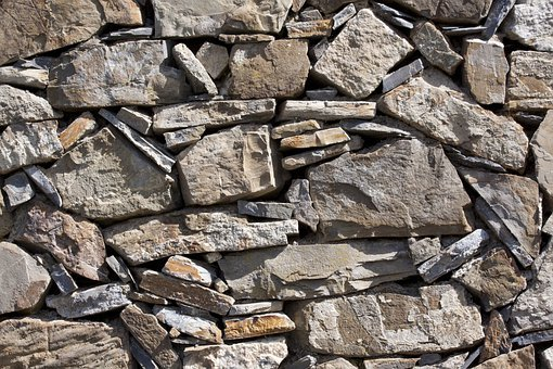 Wall, Natural Stone, Layered, Without Mortar, Hard