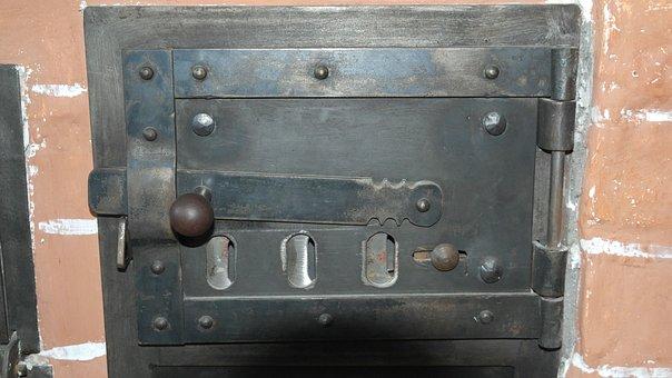 Oven Door, Oven, Stove, Cooking Zone, Antique