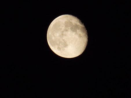 Moon, Craters On The Moon, Man In The Moon, Astronomy