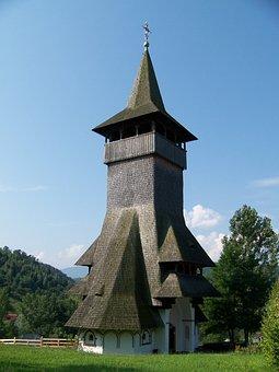 Romania, Barsana, Monastery, Wooden Roofing