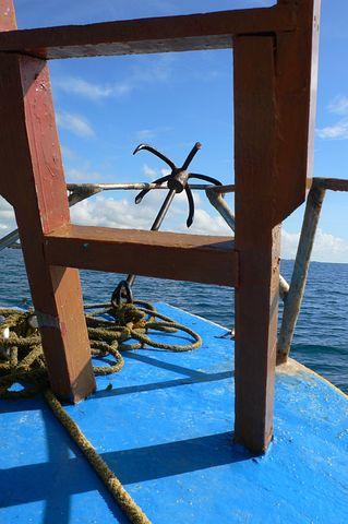 Boat, Anchor, Ocean, Rope, Vessel, Nautical