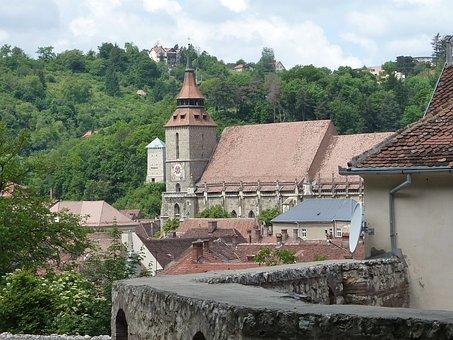 Black, Church, Romania, Brasov, Old, City, Medieval