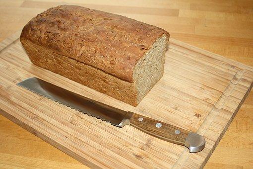 Bread Knife, Oak Handle, Loaf Of Bread, Bread