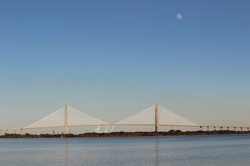 Bridge, Jacksonville, Architecture, Florida, Scenic