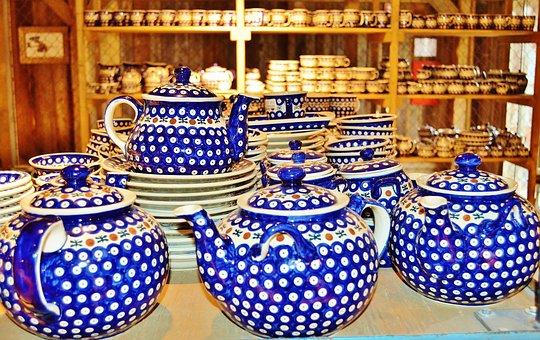 Porcelain, Coffee Jugs, Bunzlauer Porcelain, Tableware