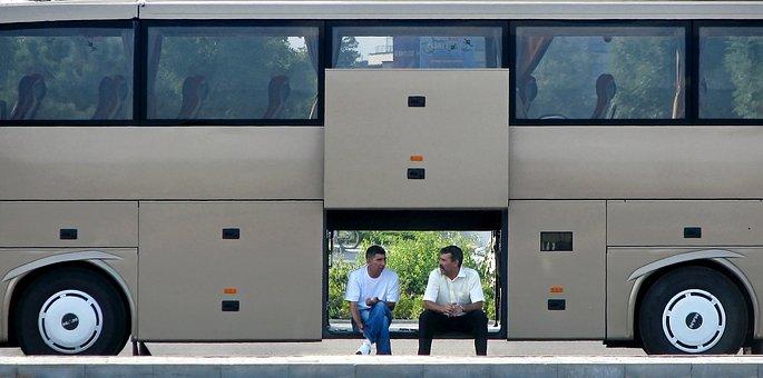 Driver, Bus, Take A Break, End Trip, Coach, Pause