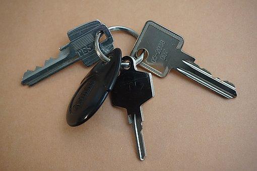 Keychain, Key, Keyring, Locks, Entry, Metal, Door
