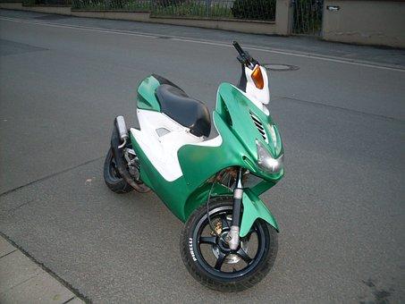 Motorcycle, Motor, Roller, Motor Scooter, Bike, Germany