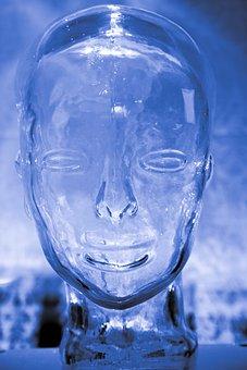 Human, Glass, Brain, Head, Blue, Intelligence, Mind