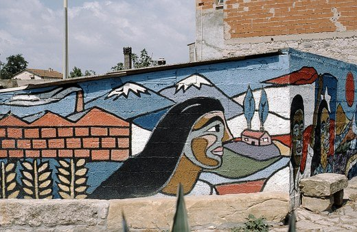 Sardinia, Murales, Murals, Graffiti, Politically