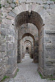 Arches, Pergamon, Acropolis, Heritage