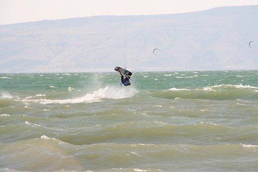 Kiteboarding, Sports, Ocean, Watersports, Looping