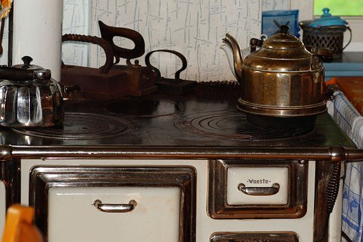 Stove, Antique, Old, Oven, Fireplace, Cook, Kohleherd