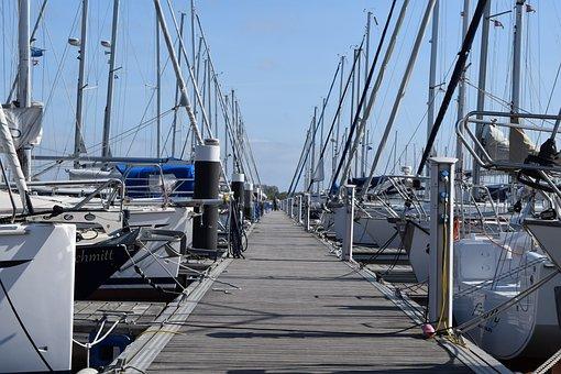 Kröslin, Port, Marina, Boats, Sail, Sailing Boat, Ship