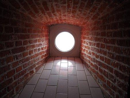Light, Amrum, Mirroring, Lighthouse Amrum, Staircase