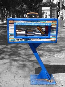 Books, Bookshelf, Book Stack, Public, Marseille, Borrow