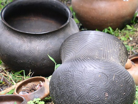 Native American, Pottery, Clay Jugs, Indian