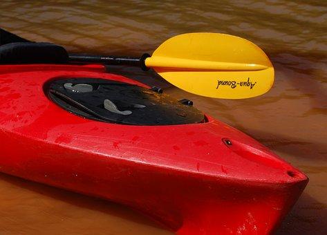Kayak, Paddle, Boat, Outdoors, Lake, Paddling, Canoe