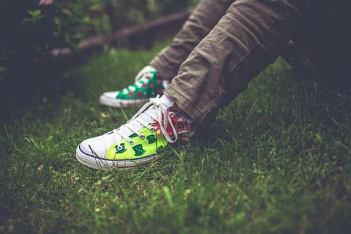 Handmade, Sneakers, Colorful, Painted, Shoes, Teenager