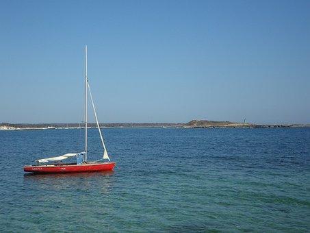 Boat, Sailing Boat, Anchor, Concerns, Water, Sea, Ship