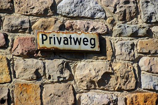 Shield, Private Road, Street Sign, Wall, Note, Sign
