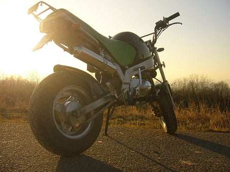 Motorcycle, Motor, Racing, Fast, Vehicle, Sunset, Honda