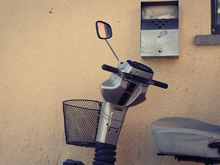 Scooter, Moto, Urban, Motorcycle, Vintage, Grunge