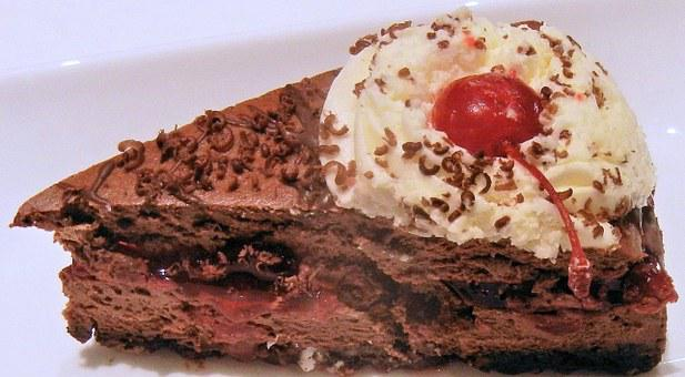 Black Forest Cheesecake, Whipped Cream, Cherry Filling