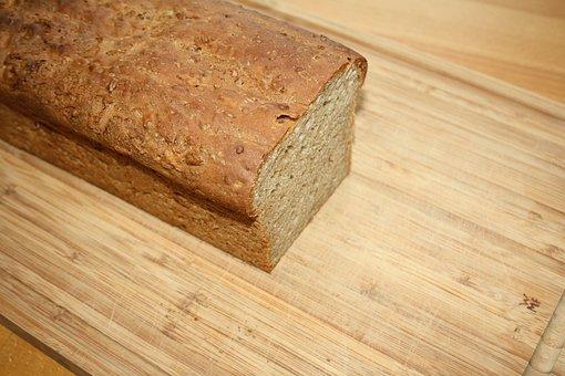 Loaf Of Bread, Bread, Wooden Board