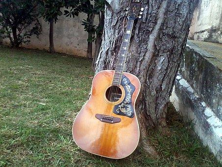 Guitar, Old Guitar, Guitar 1977, Acoustic, Music