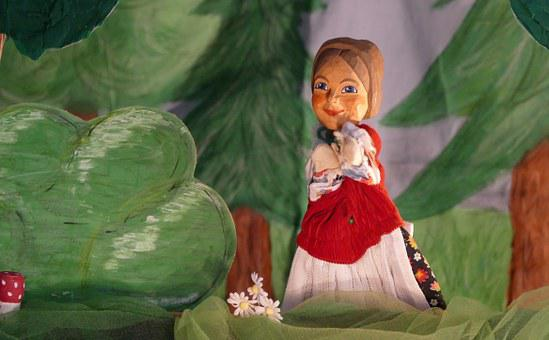 Hansel And Gretel, Doll, Puppet Theatre, Gretel