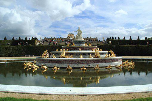 Versailles, Fountain, Beautiful, France, Holidays