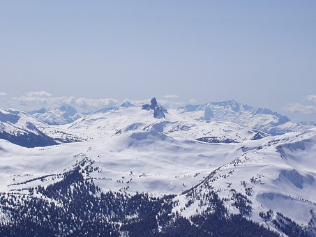 Mountains, Whistler, Winter, Snow, Cold, Ridge, Glacier