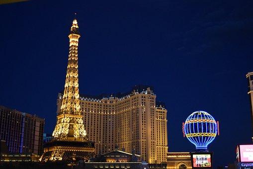 Las Vegas, Paris, Night View, Hotel