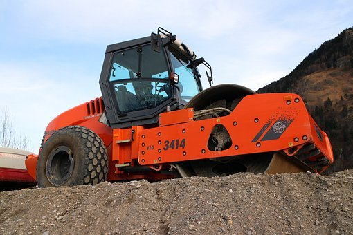 Vehicle, Roll, Single Drum Roller, Construction Machine