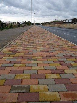 Path, Colors, Cobble, Bricks, Route, Sidewalk, Walk