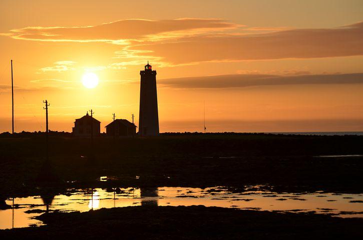 Sunset, Sillouette, Abendstimmung, Lighthouse