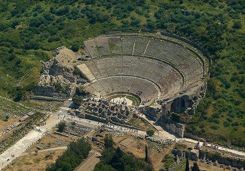 Ephesus, Turkey, Greek, Theatre, Tourist, Tourism