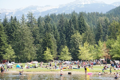 Mountain Lake, Swimming, British Columbia, Whistler