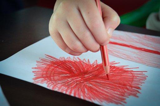 Painting, Drawing, Crayons, Card, Arts, Child, Handle