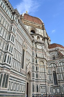 Dome Of Florence, Florence, Cathedral, Italy, Church