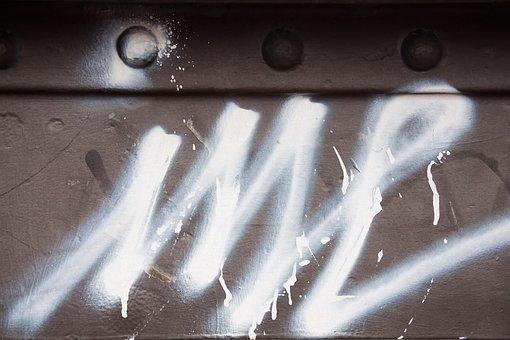 Graffiti, Metal, Grunge, Bridge, City, Youth