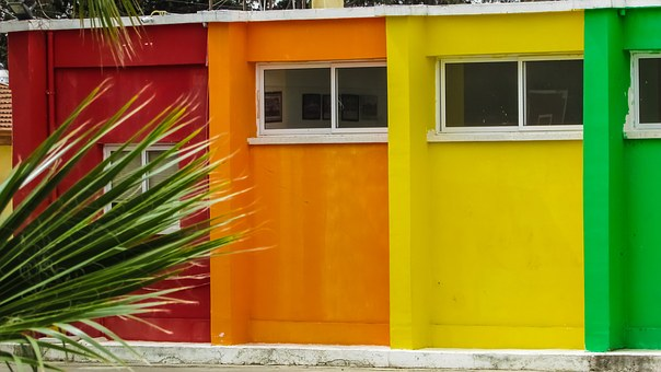 Cyprus, Pyla, School, Turkish Cypriot, Colours